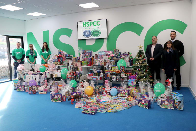 Trade Centre Wales support NSPCC Christmas Present Appeal 2018 image